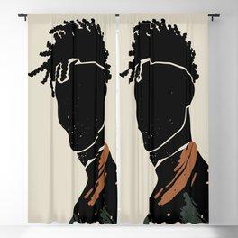 Black Hair No. 2 Blackout Curtain