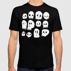 Spooky Skulls Black Mens Fitted Tee MEDIUM