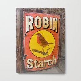 Robin Starch Metal Print