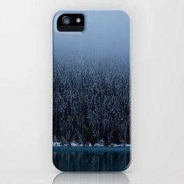Foggy Lake Louise Shoreline iPhone Case