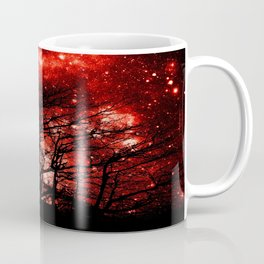 black trees red space Coffee Mug