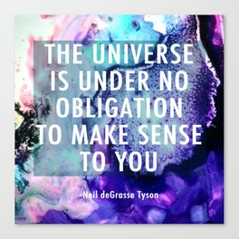 Neil deGrasse Tyson Inspired - Universe Cell Print Canvas Print