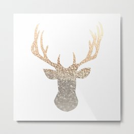 GOLD DEER Metal Print