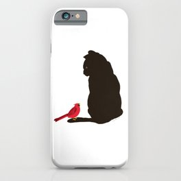 Cat and Bird iPhone Case
