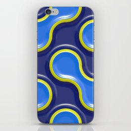 Bubble Blue iPhone Skin
