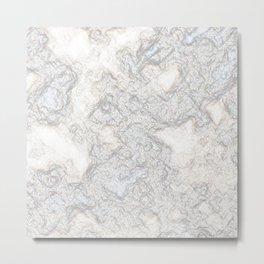 Paper Marble Metal Print