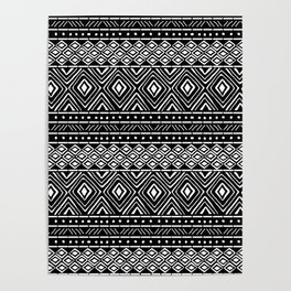 African Mud Cloth // Black Poster