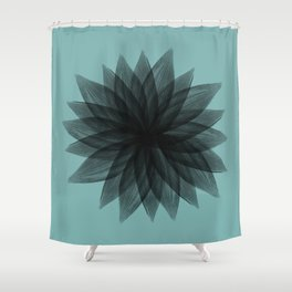 flowers in your hair Shower Curtain