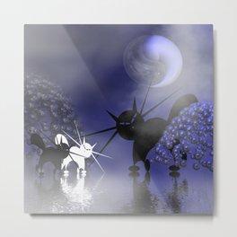 mooncats -6- Metal Print