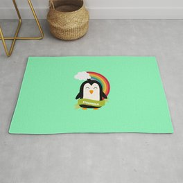 Penguin Rainbow from Stockholm T-Shirt Rug