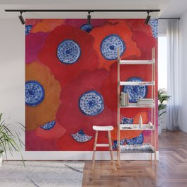 Hippy flowers watercolor Wall Mural