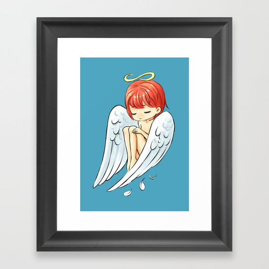 Little Angel Framed Art Print