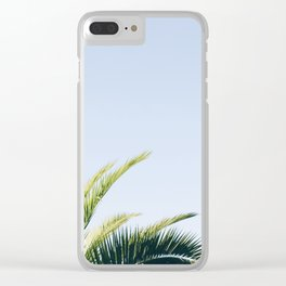 Green Palm Tree Clear iPhone Case