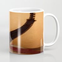 bdsm Mugs featuring funny painting Anal sex BDSM fetish submissive crossdresser doggie style anal sub slave panty Master by Velveteen Rodent