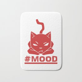 #MOOD Cat Red Bath Mat