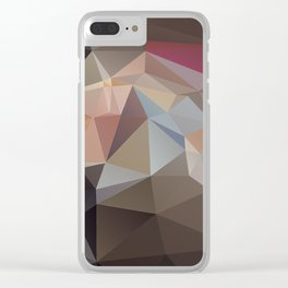 Pastel Pyramid Art Clear iPhone Case