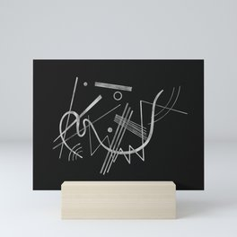 Kandinsky - Black Background Abstract art Mini Art Print