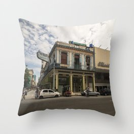Nice lookin' street corner in La Havana, Cuba Throw Pillow