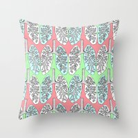 lungs Throw Pillows featuring Lungs by Charlotte Goodman