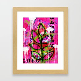 Leaves painting - Abstract Framed Art Print