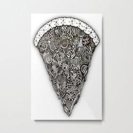 Pizza doodle... Metal Print