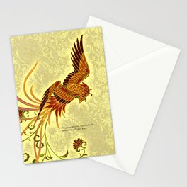 "Japanese Traditional Pattern ""Japanese phoenix""  Stationery Cards"