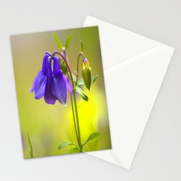 Purple Columbine In Spring Mood Stationery Cards