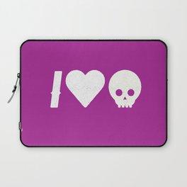 I Love Skulls Laptop Sleeve