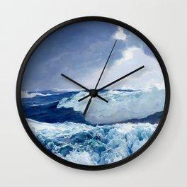 Mid Ocean by Frederick Judd Waugh Wall Clock