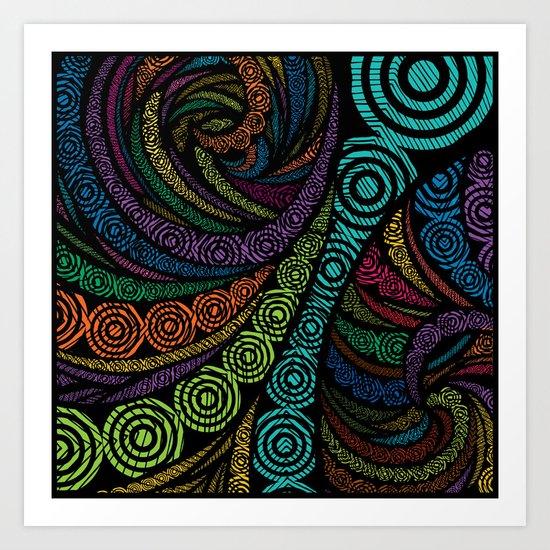 Fractal Freehand Art Print