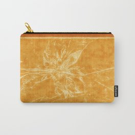 Pale Yellow Poinsettia 1 Outlined Orange Carry-All Pouch