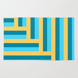 Colorful line arrow pattern. Rug