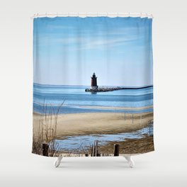 Lewes Lighthouse Shower Curtain