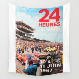 Le Mans 1967, 24hs Le Mans, 1967, original vintage poster Wall Tapestry