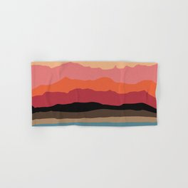 Abstract Mountains and Hills Hand & Bath Towel