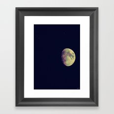 Two Stars and a Moon Framed Art Print