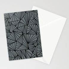 Ab Fan Grey and Black Stationery Cards