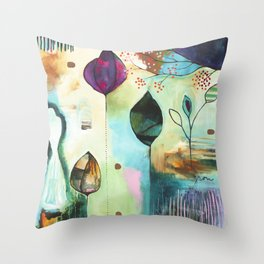 """Abundance"" Original Painting by Flora Bowley  Throw Pillow"