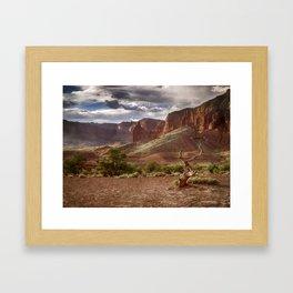 Mountains at Capitol Reef National Park - Utah Framed Art Print