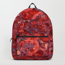 Marble Ruby Blood Red Agate Backpack