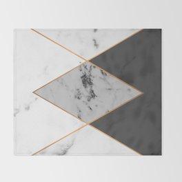 Geometric marble & copper Throw Blanket