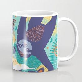 Swingin' Sloths in Jungle Green Coffee Mug