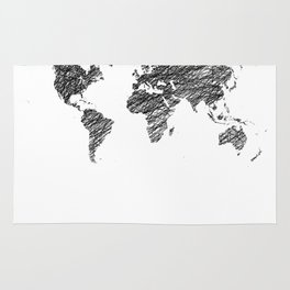 World map rugs society6 scribble world map rug gumiabroncs Images