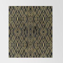 Art Deco Gold Throw Blanket