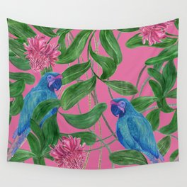 blue parrots Wall Tapestry