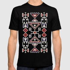 Native American Navajo pattern X-LARGE Black Mens Fitted Tee