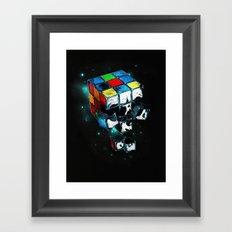 Rubicks Skull Framed Art Print