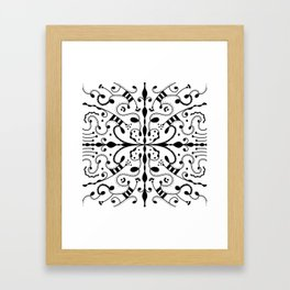 Lashes and Dots Framed Art Print