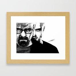 breaking bad`s Walter White and jesse Framed Art Print