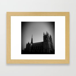 woodward ave cathedral Framed Art Print
